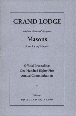 2002 proceedings grand lodge of missouri by missouri freemasons