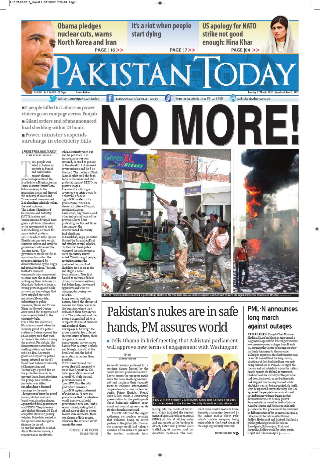 e-paper pakistantoday 27th march, 2012 by Pakistan Today - issuu