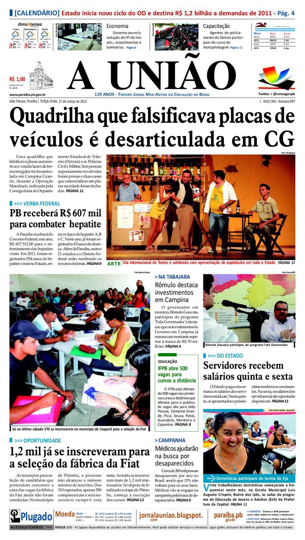 27fd1a90959 Jornal A UNIÃO by Jornal A União - issuu
