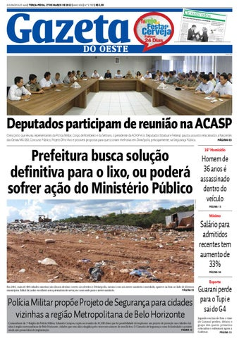 Gazeta do Oeste by Dacio Fernandes - issuu 9890274404e86
