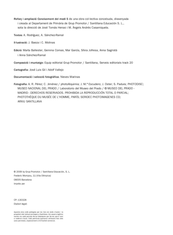 Coneixement Del Medi 5 Primaria Santillana