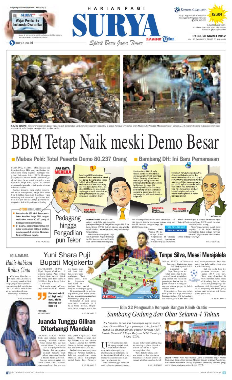 E Paper Surya Edisi 28 Maret 2012 By Harian Issuu Gendongan Bayi Depan Mbg 6201 Free Ongkir Jabodetabek