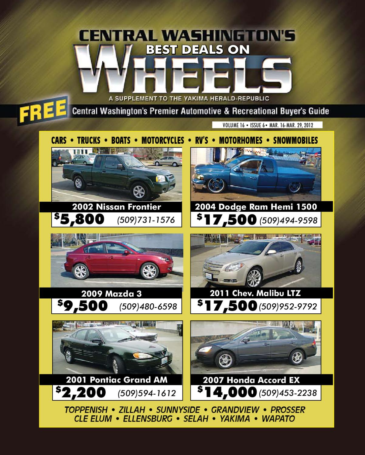 Wheels 03 16 2012 By Yakima Herald Republic Issuu