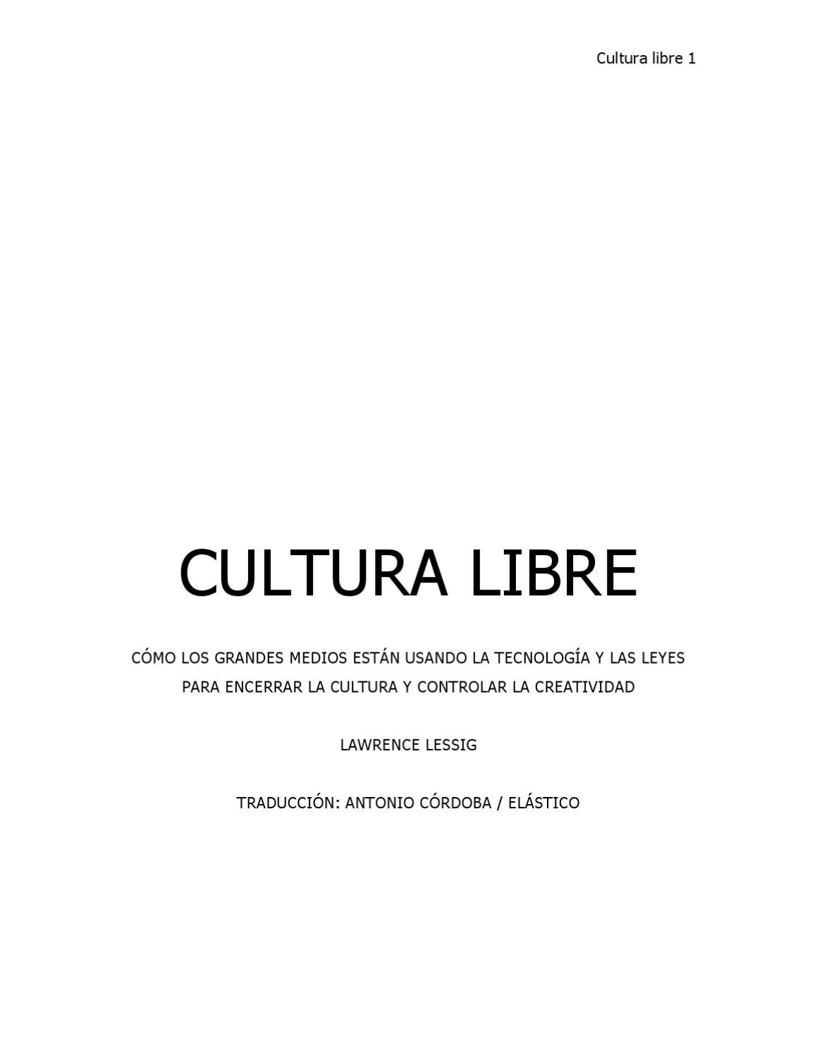 Cultura Libre by Kwell - issuu