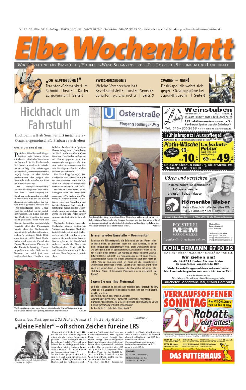 Eimsbüttel KW13 by Elbe Wochenblatt Verlagsgesellschaft mbH & Co KG