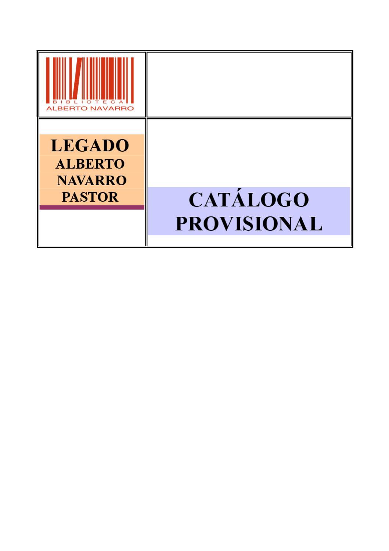 9ae69458b1 Catalogo Provisional del Legado de Alberto Navarro by Ayto. de Elda - issuu