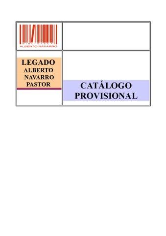 6e6d7e6a45 Catalogo Provisional del Legado de Alberto Navarro by Ayto. de Elda ...