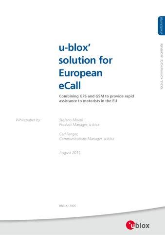 eCall whitepaper by gitte jensen - issuu