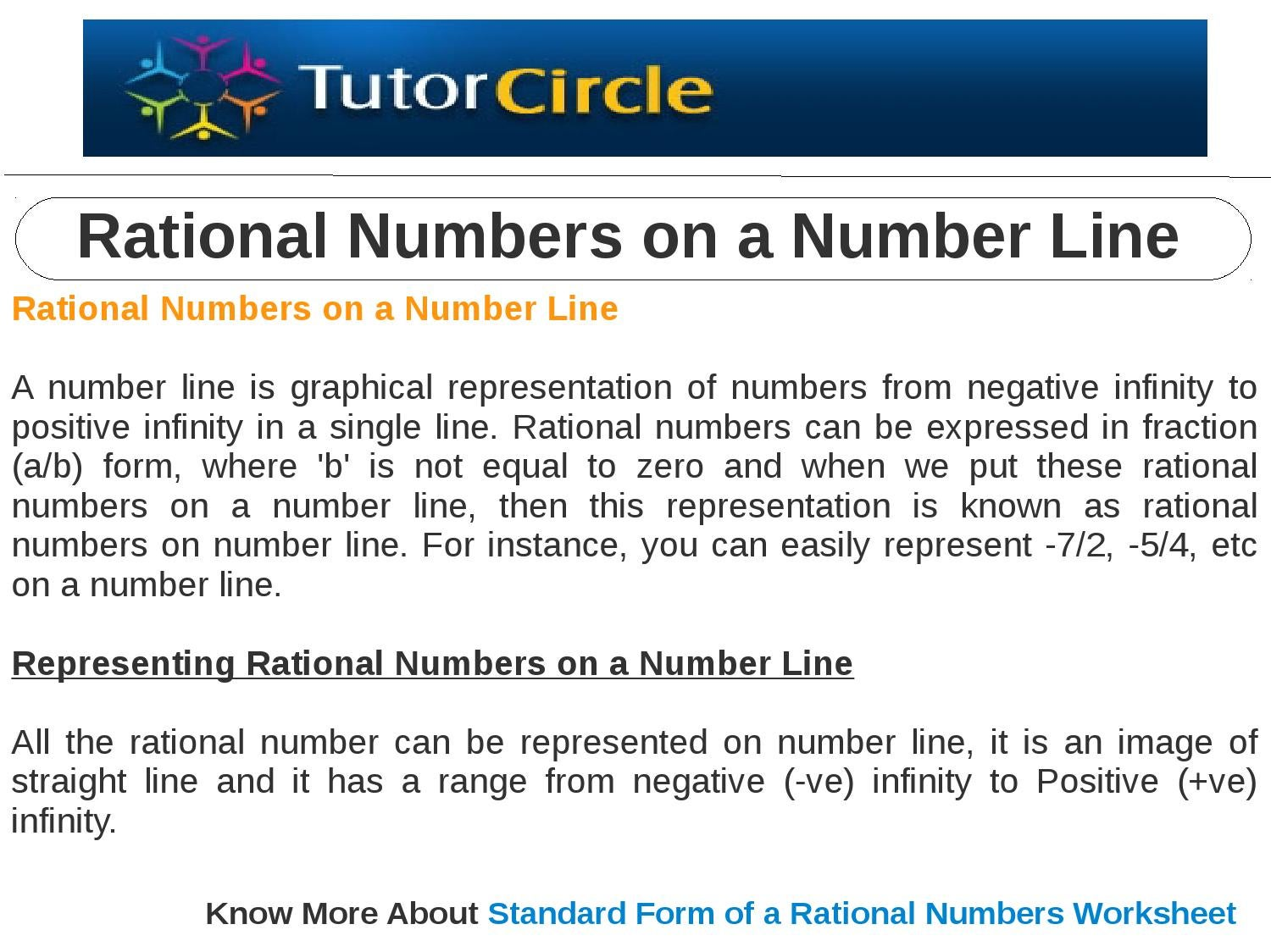 Rational numbers on a number line by tutorcircle team issuu falaconquin