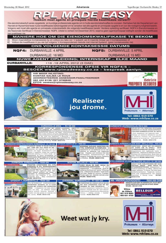 Tygerburger Durbanville 28 Maart 2012 by Tygerburger Newspaper - issuu