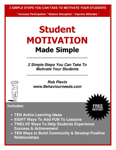 Motivation Made Simple by Rob Plevin - issuu