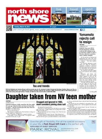 North Shore News March 18 2012