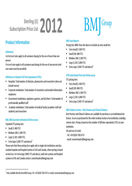 BMJ 2012 - British Medical Journal Publishing