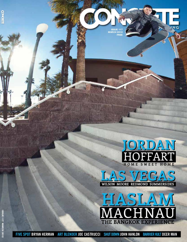 concrete skateboarding issue 117 - Skateboard Bank Beine