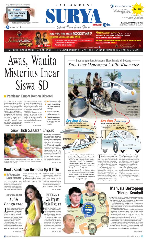 E Paper Surya Edisi 29 Maret 2012 By Harian Issuu Tcash Vaganza 34 Kripiss Medan Manis