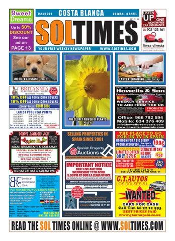 3f10dc9ca Sol Times Newspaper issue 221 COsta Blanca Edition by nigel judson ...