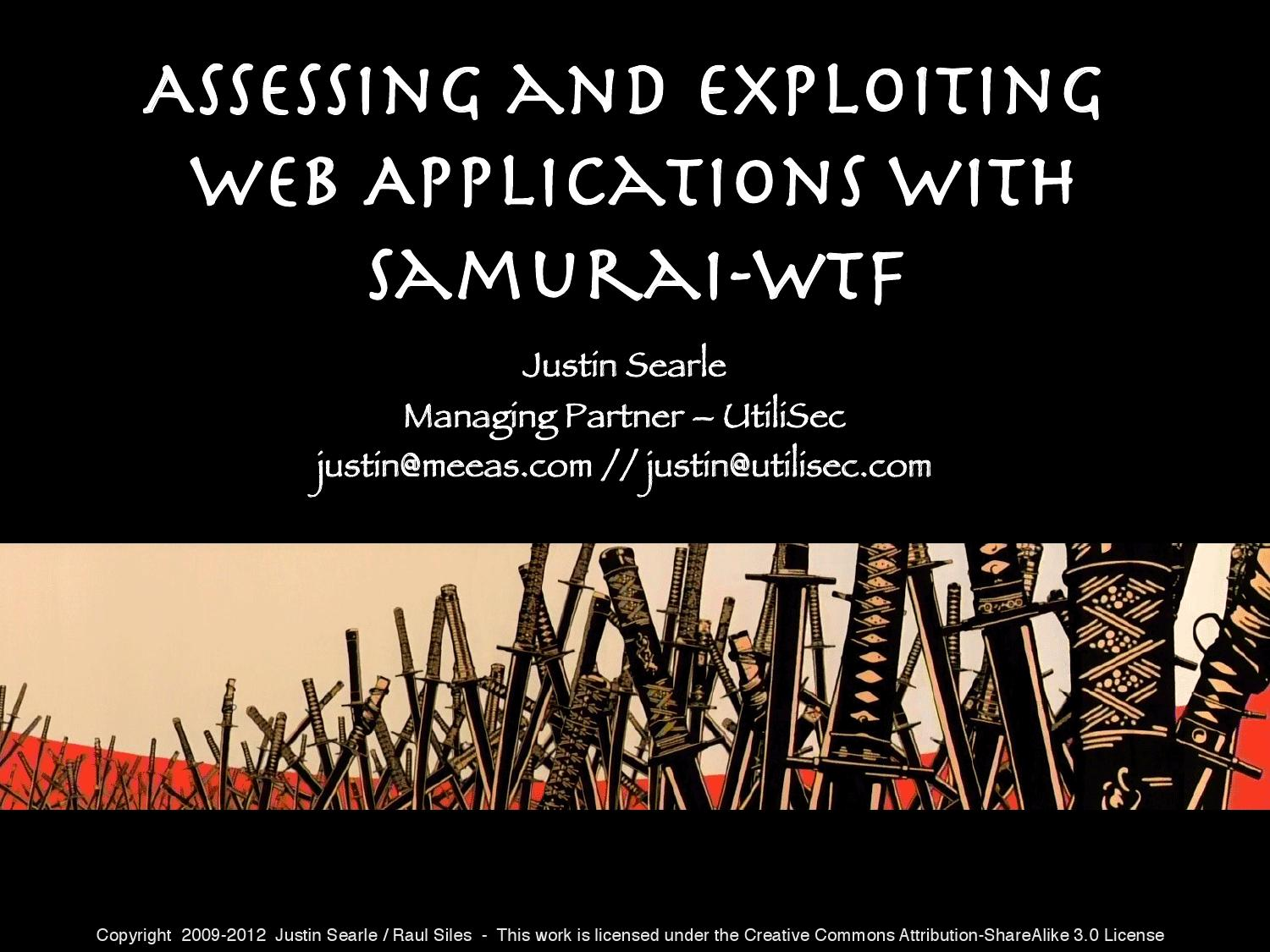 Assessing and Exploiting Web Applications with Samurai-WTF by El