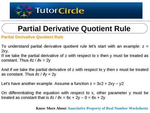quotient rule derivative examples pdf