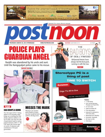 3be811a9001 Postnoon E-Paper for 29 March 2012 by Scribble Media   Entertainment ...