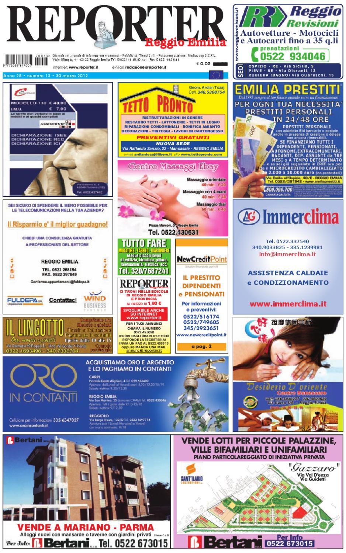 Reporter Annunci 30 Marzo 2012 by Reporter - issuu 59e6c0679db