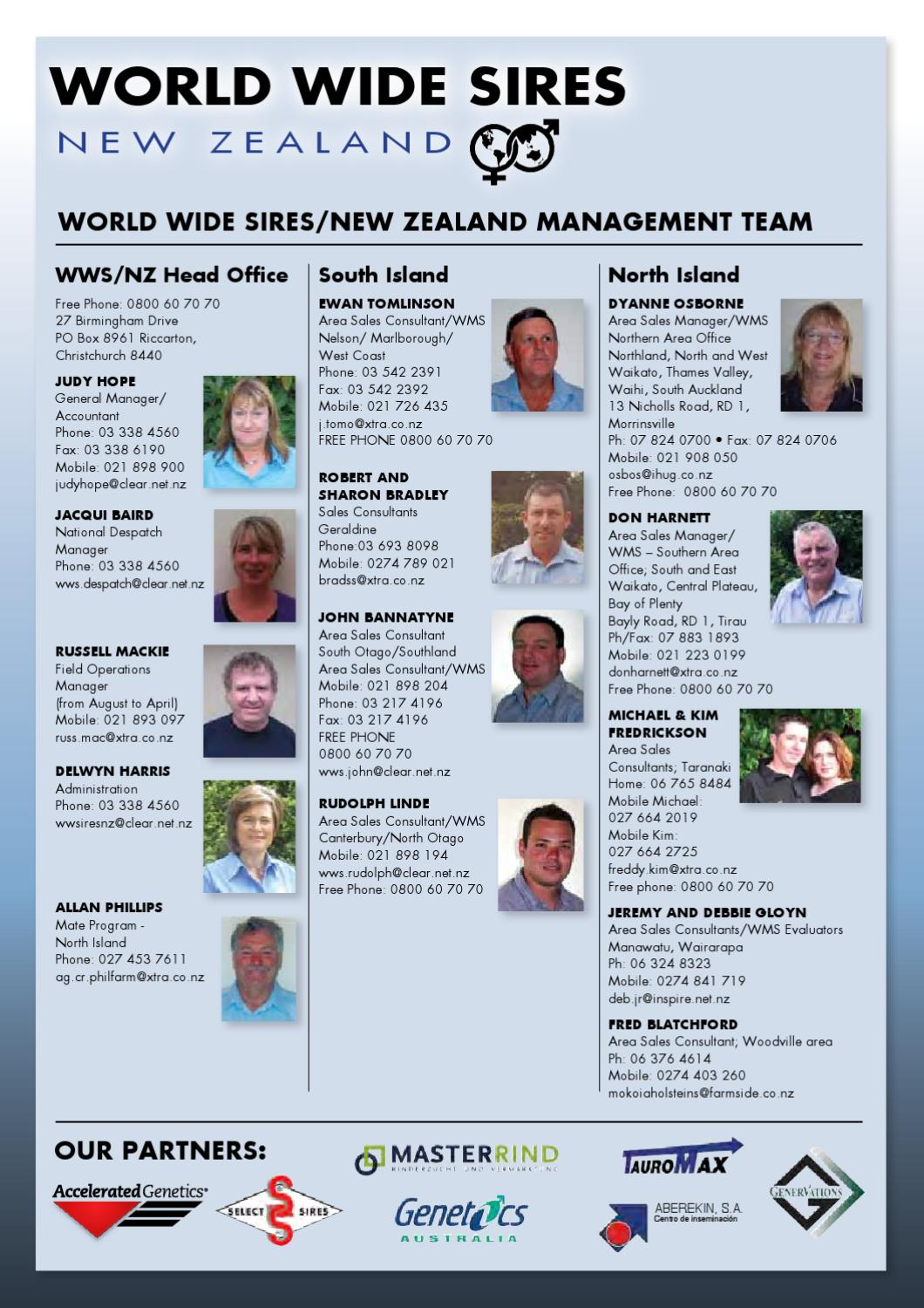 2012 World Wide Sires New Zealand Catalog by World Wide Sires, LTD