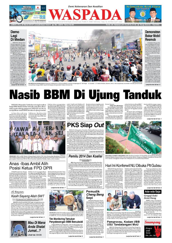 Waspada Jumat 30 Maret 2012 By Harian Issuu Produk Umkm Bumn Bolu Gulung Hj Enong