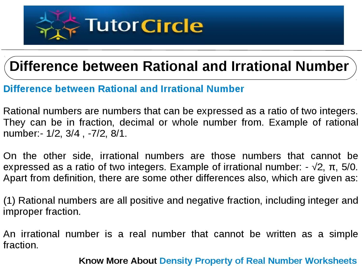 Real Numbers Worksheet   Free Printables Worksheet together with Rational and Irrational Numbers   Education   Pinterest   Math also rational vs irrational numbers worksheet doc3513 Rational Vs also  together with  likewise  together with Clifying Rational   Irrational Numbers by Kevin Wilda   TpT further  furthermore Venn Diagram Of Rational and Irrational Numbers Admirably Estimating as well Math Worksheets Irrational Numbers Best Rational Irrational Numbers as well  together with Rational vs irrational worksheet  1485489   Worksheets liry additionally Rational and Irrational Numbers in addition The Rational Number System Worksheet Solutions also  likewise Know that there are numbers that are not rational  and approximate. on rational and irrational numbers worksheet