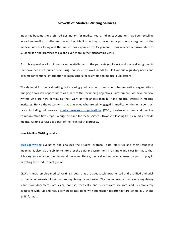 Bluestem medical writing services