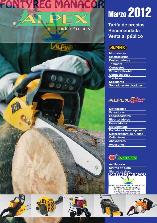 Cortacesped motosierra tractor cortaseto motoazada - Motosierras alpina precios ...