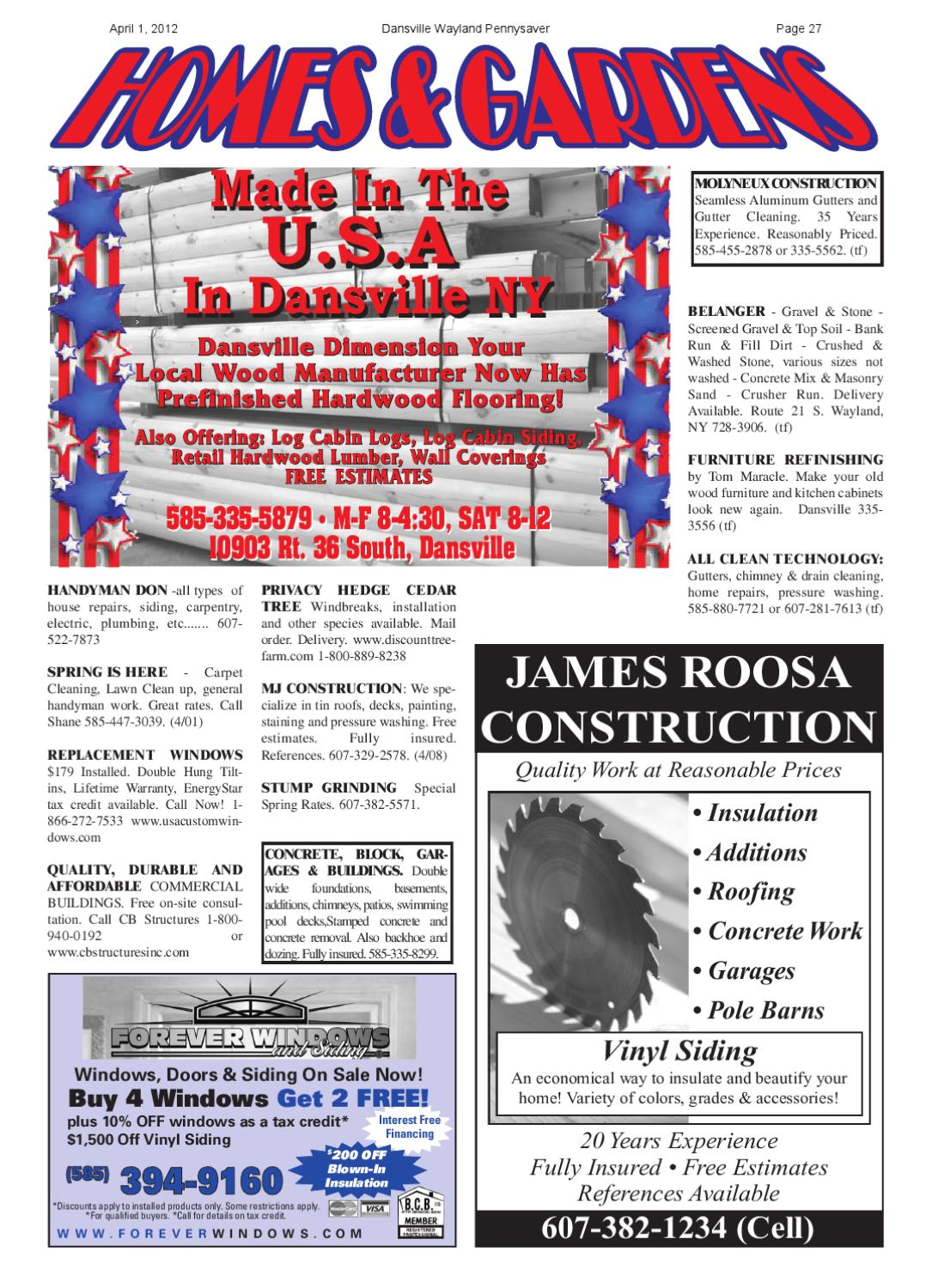 April 1, 2012 by Dansville-Wayland PennySaver - issuu