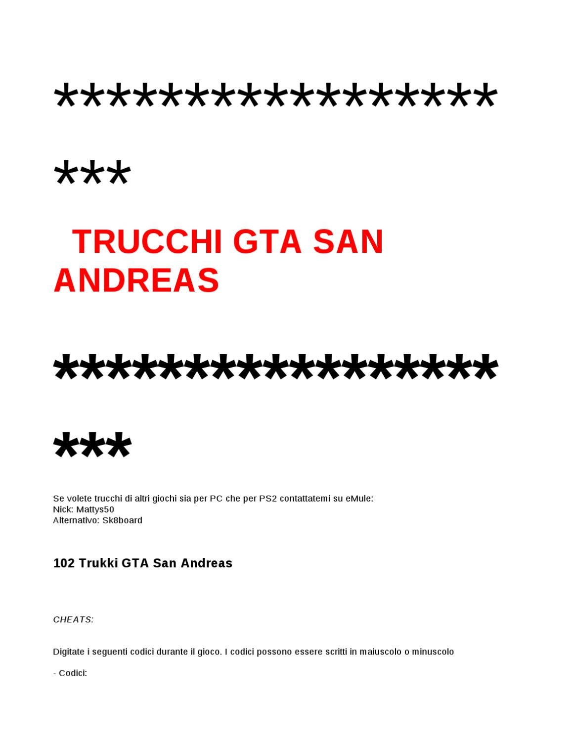 100 trucos GTA San Andreas PC & PS2 by a feds - issuu