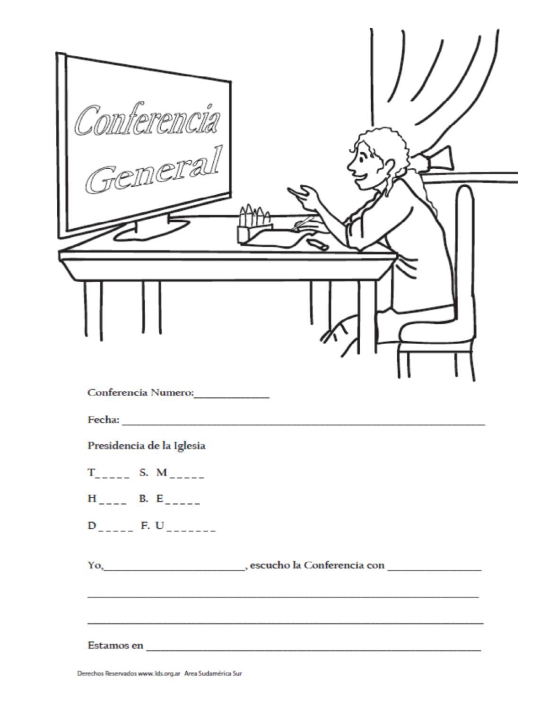 Famoso Conferencia General Para Colorear Ideas - Enmarcado Para ...