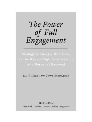 Power Of Engagment By Olya Zukova Issuu