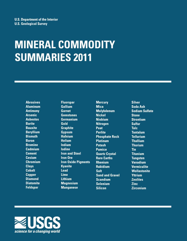 Mineral Commodity Summaries 2011 by Nikolay Ryabtsev - issuu