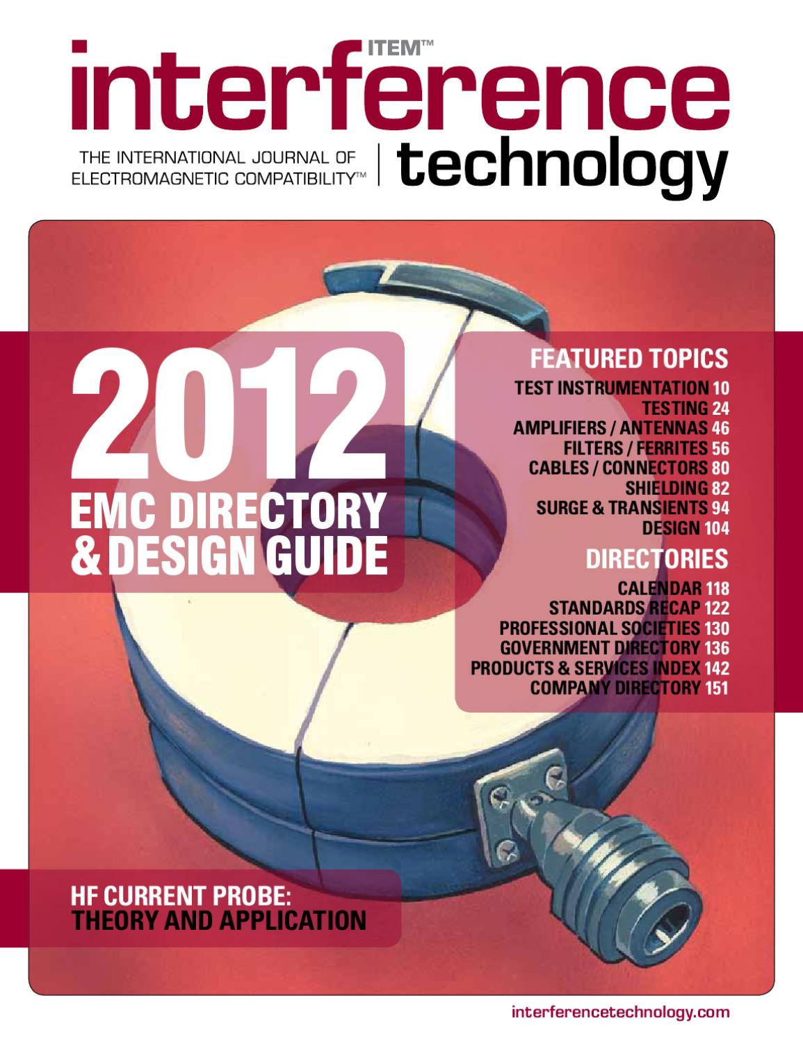 2012 Interference Technology EMC Directory & Design Guide by ITEM Media -  issuu