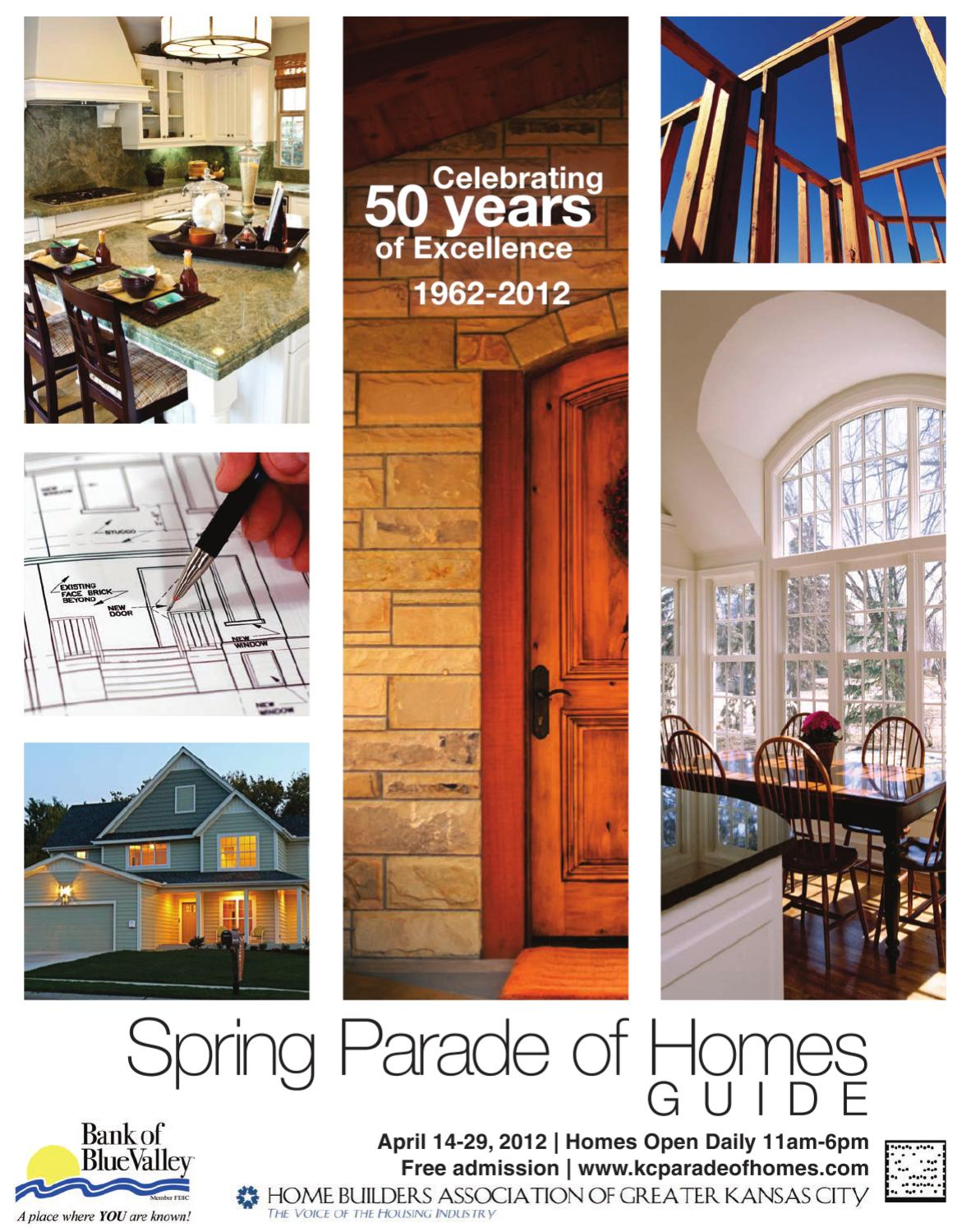 2012 spring parade of homes by home builders association for Home builders in kansas