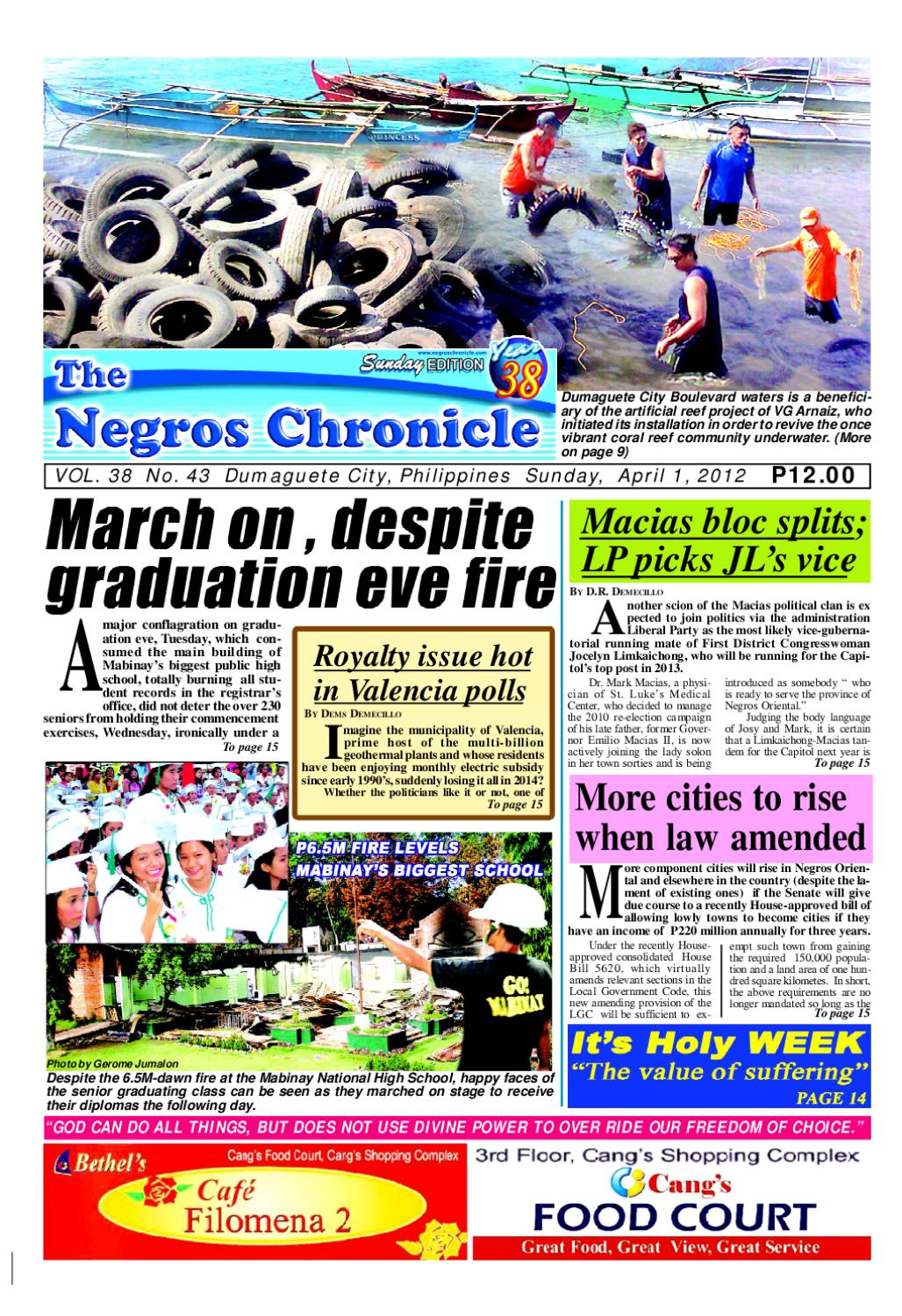 The Negros Chronicle April 01, 2012 issue by Gerard