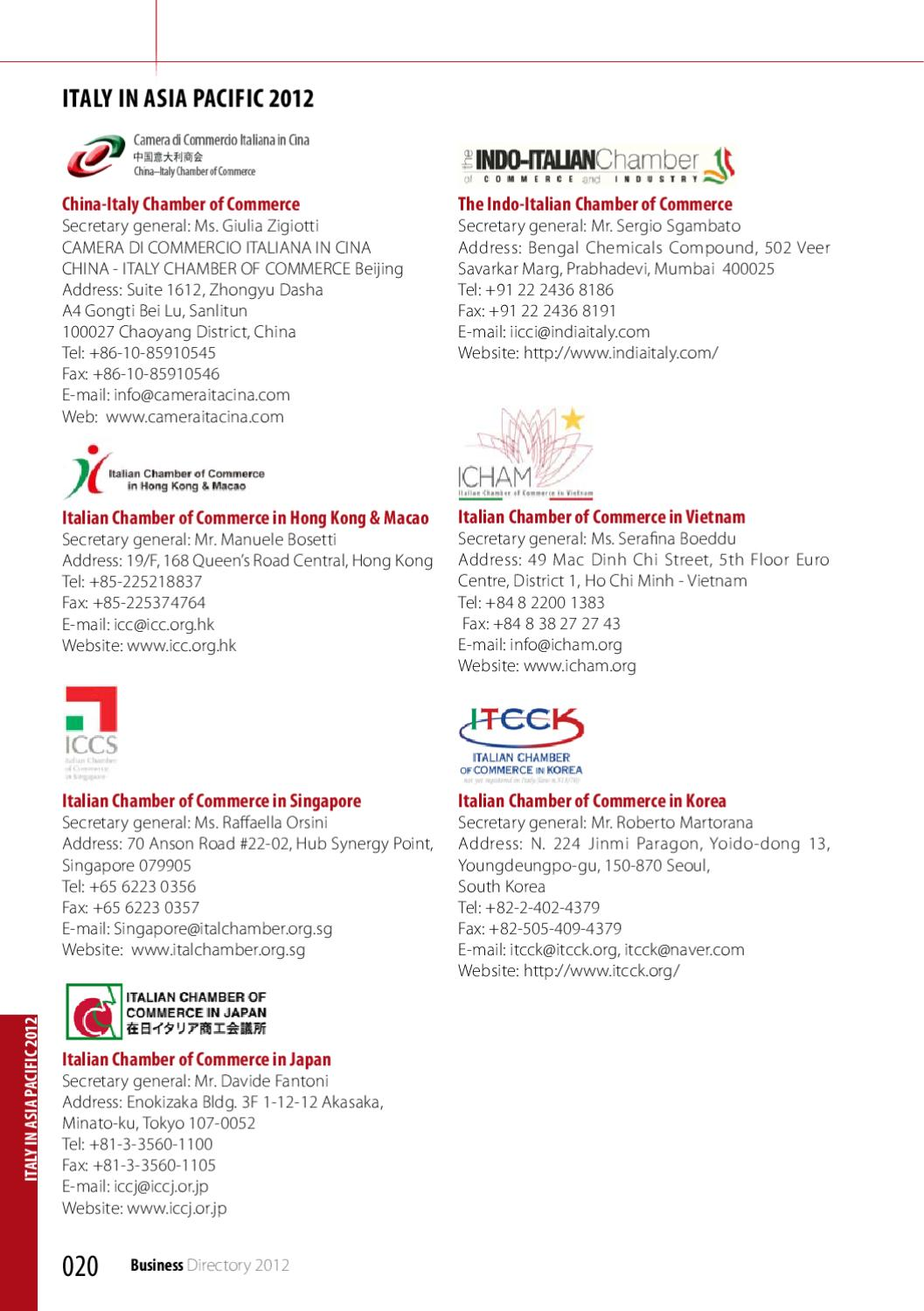TICC Business Directory 2012 by Thai - Italian Chamber of