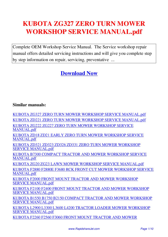 kubota bx25d owners manual pdf