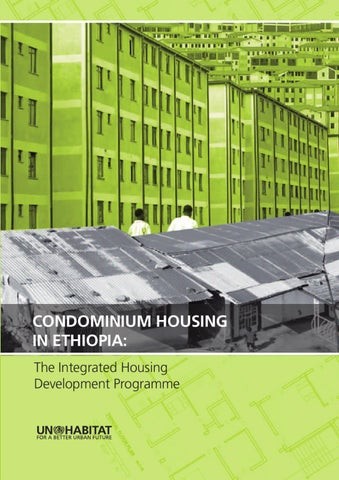 Condominium Housing In Ethiopia Housing Practices Series Series