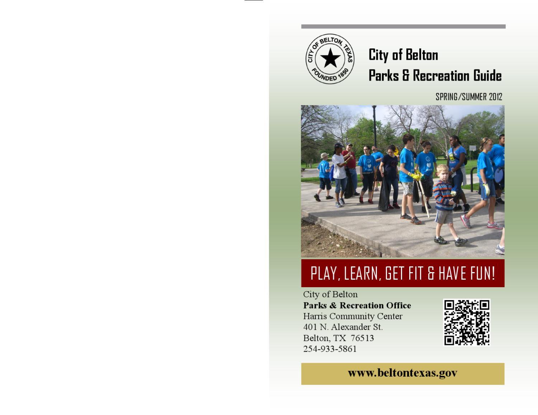 Belton Spring/Summer Recreation Guide by City of Belton, TX