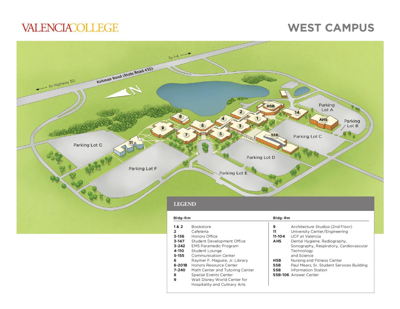 Valencia College West Campus Map Valencia College Campus Map West by Valencia College   issuu