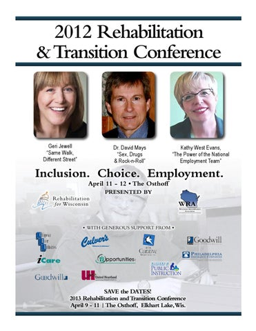 Major Statewide Transition Conference >> 2012 Rehabilitation And Transition Conference Program By Nancy Gores