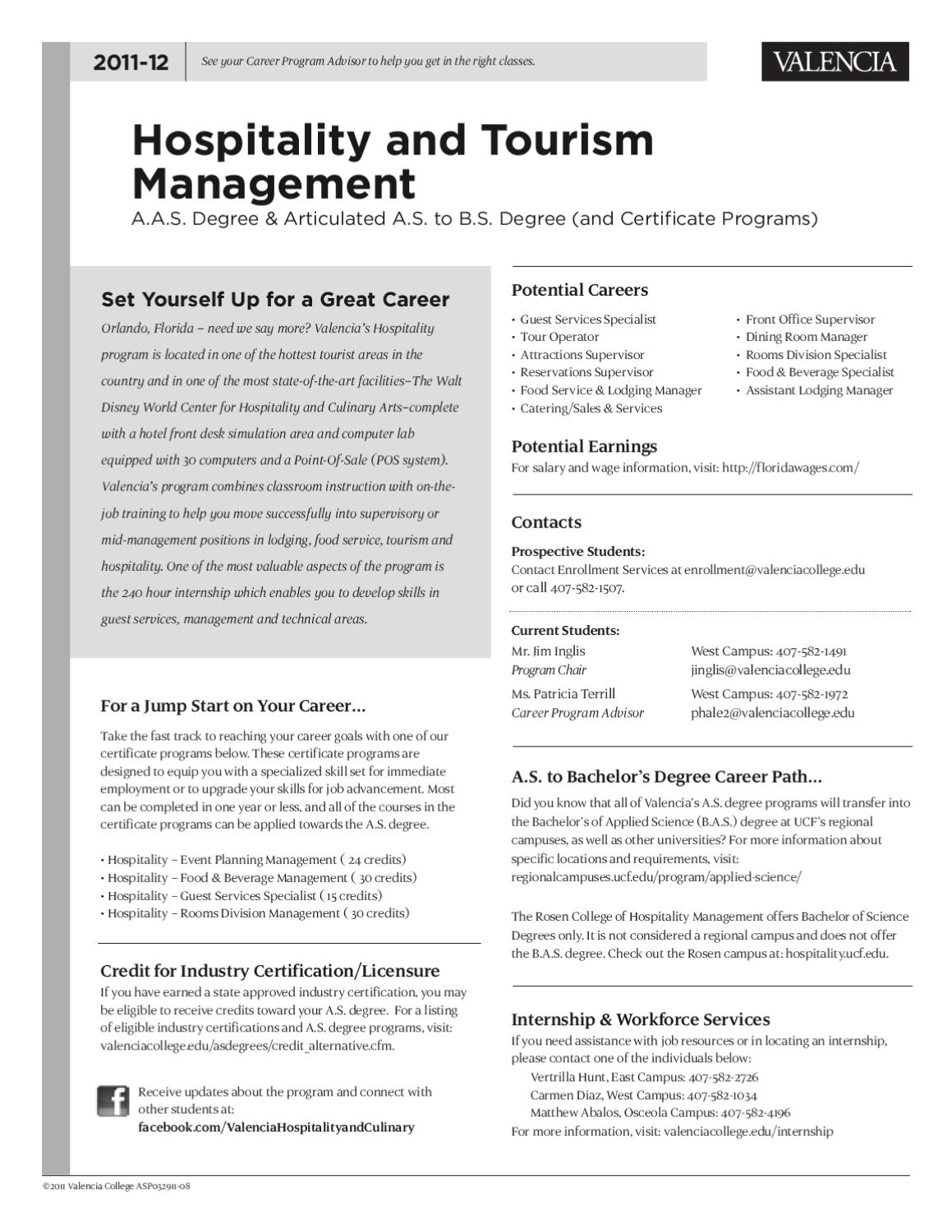 Hospitalitytourismmanagement By Valencia College Issuu