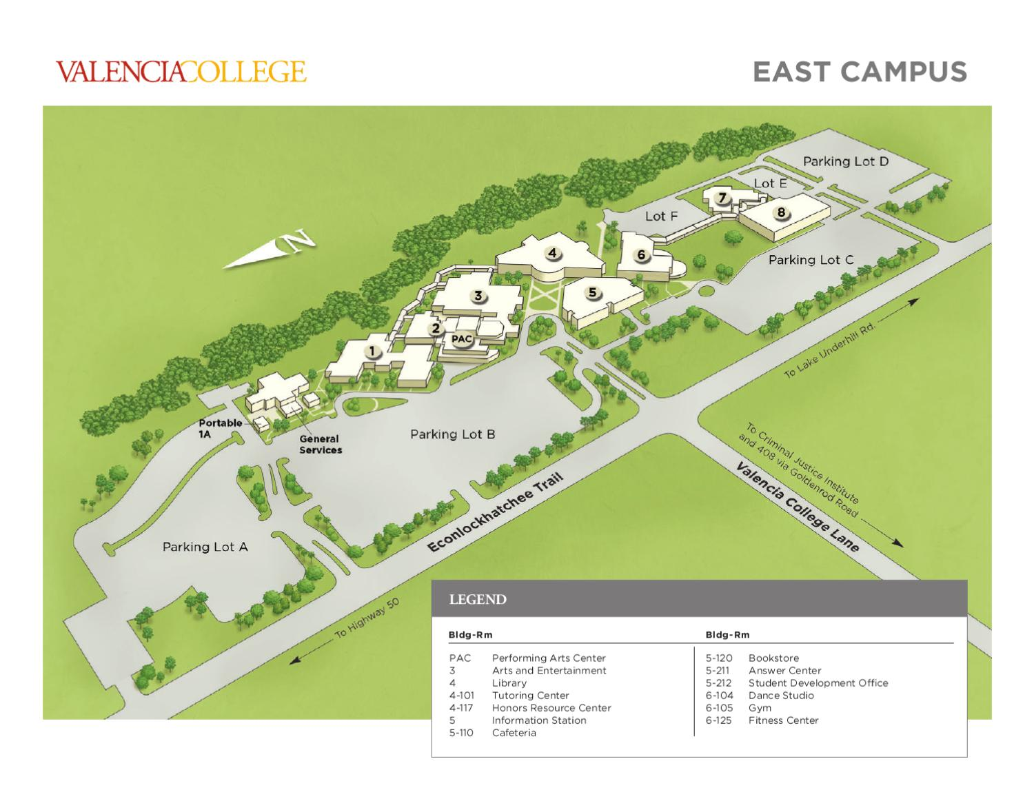 Valencia College Campus Map East By Valencia College Issuu
