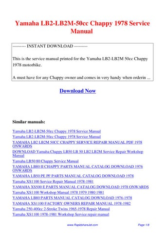 Yamaha Chappy Lb50 Service Manual Pdf