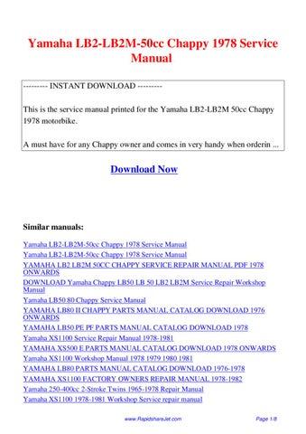 Yamaha Chappy Lb50 Service Manual Pdf