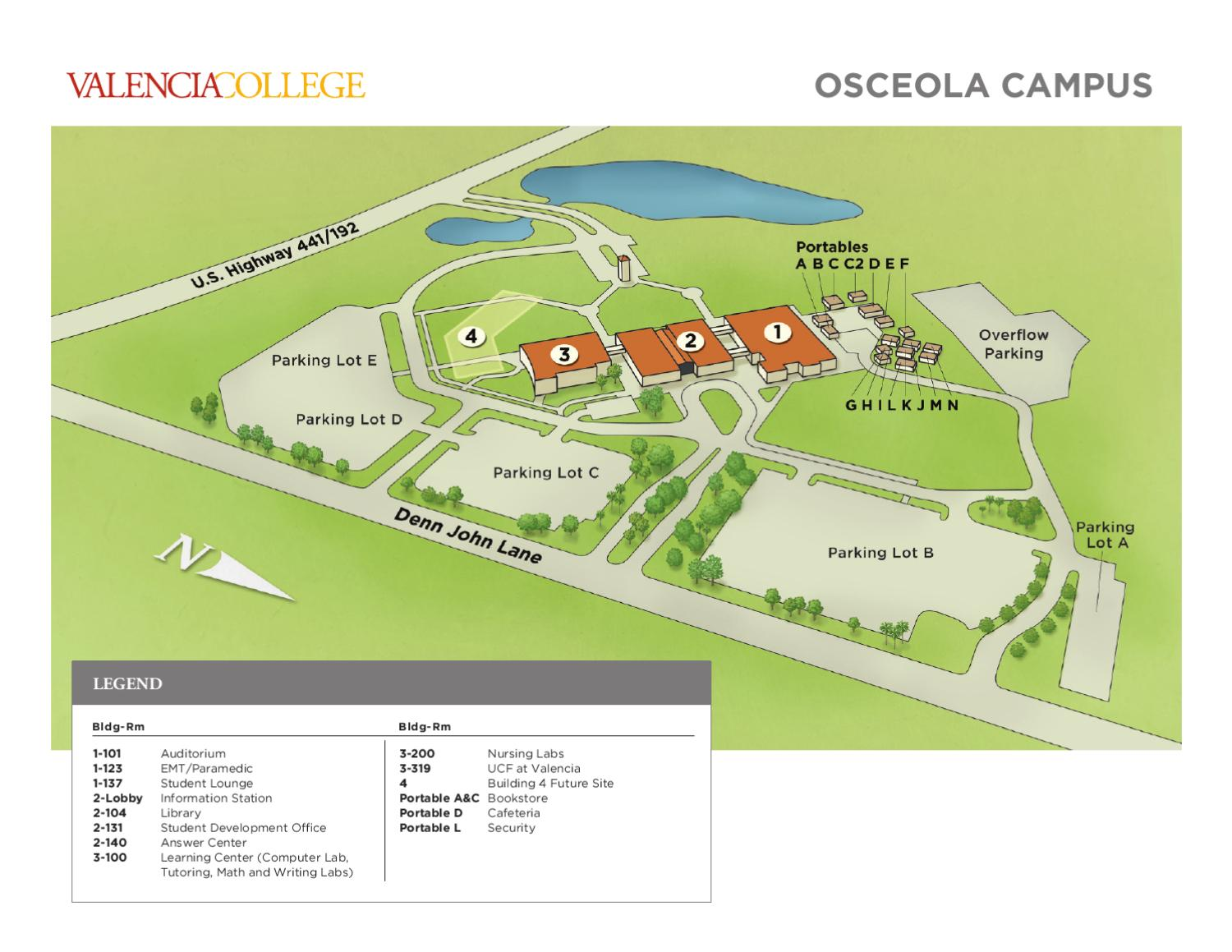 Valencia College Campus Map Osceola by Valencia College   issuu