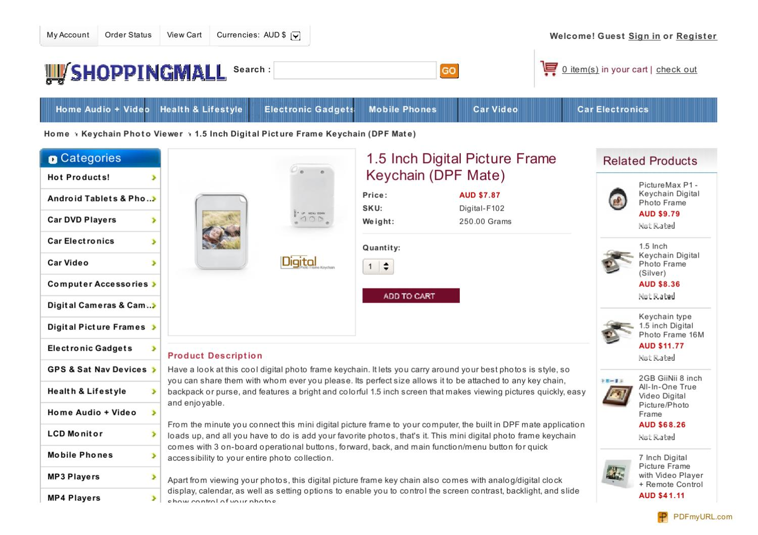 1.5 Inch Digital Picture Frame Keychain (DPF Mate) by chen fan - issuu