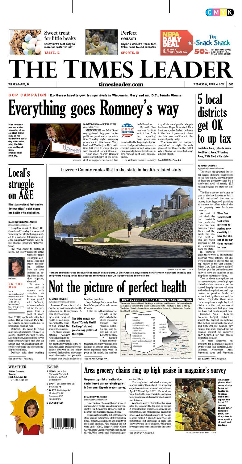 bb0a39ebb Times Leader 04-04-2012 by The Wilkes-Barre Publishing Company - issuu